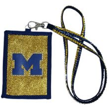 Michigan Wolverines Beaded Lanyard I.D. Wallet
