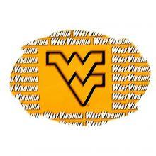 "West Virginia Mountaineers 5"" x 6"" Repeating Design Swirl Magnet"