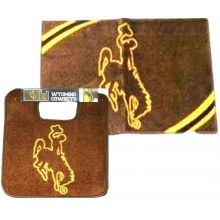 Wyoming Cowboys Two (2) Piece Bathroom Rug Set