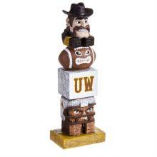 Wyoming Cowboys Tiki Totem