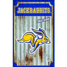 South Dakota State Jackrabbits Corrugated Metal Ornament