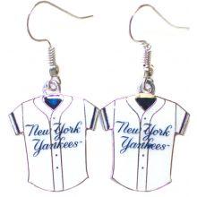 New York Yankees Jersey Dangle Earrings