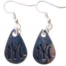 New York Yankees Tear Drop Dangle Earrings